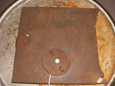 Vintage L.l. Bean Cast Iron Stove Door Furnace Door Steampunk Wood Coal Door