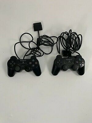 Official OEM Sony Playstation 2 PS2 Analog Controller Black SCPH-10010 PS2
