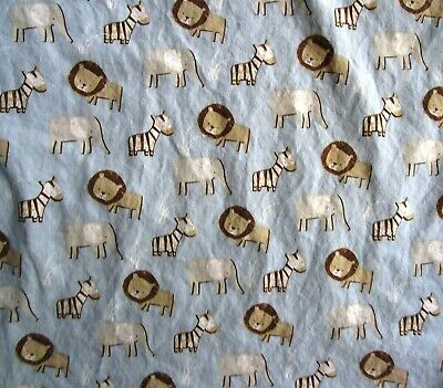 Sadie & Scout Blue Cotton Fitted Crib Sheet - Lions, Elephants, Zebras