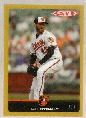 DAN STRAILY 2019 Topps Total WAVE 1 #11C GOLD PARALLEL 1/1 - ORIOLES