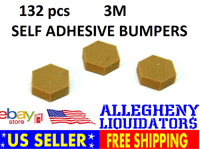 "(132) 3M Bumpon Protective Products SJ5201 LT Brown SELF ADHESIVE BUMPER 3/8"" NH"