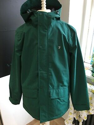 FARAH CLYDESDALE PULLOVER Jacket Aw17 Green Hood Coat Anorak