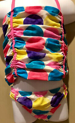 Osh Kosh B'gosh Girls Polka Dot  Tankini Swimsuit Size 6