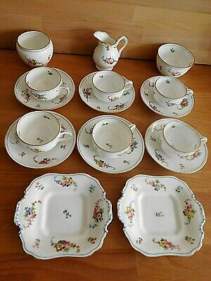 Antique Mid 19Th Century Minton Sevres Style Small Tea Set Painted Flower Spays