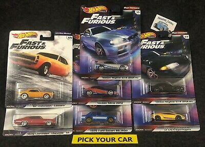Hot Wheels Car Culture Singles-Pick your CAR-All series - Fast and Furious F9