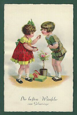 VINTAGE POSTCARD BEST Birthday Wishes - $1 99 | PicClick