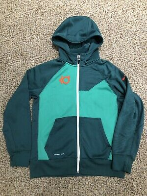 watch 036b7 1fc92 BOYS NIKE THERMA-FIT KD Kevin Durant Hoodie ZIP Up Jacket Size Youth Large