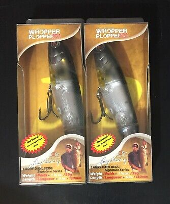 (2) New River2Sea Whopper Plopper 130 Abalone Shad Topwater Fishing Bait Lot
