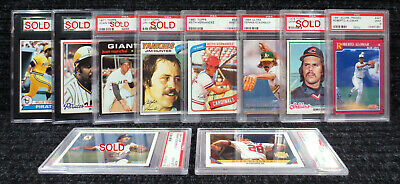 Hall of Famers A-F / PSA Graded Cards / BGS SGC / FREE SHIPPING !