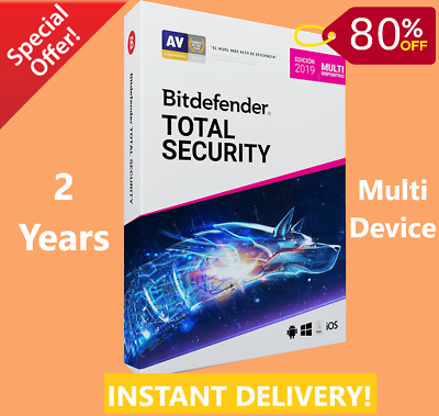 Bitdefender Total Security 2019 / 2020 | 2 Years -Download Link-INSTANT DELIVERY