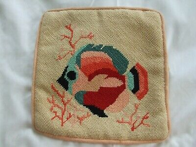 Tropical Fish Needlepoint With Coral Strands