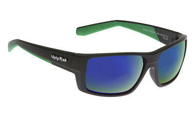 NEW Ugly Fish Polarised Sunglasses Electra PC6818 Black/Green Revo