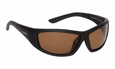 NEW Ugly Fish PU5447 Matt Black Frame Brown Lens