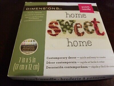 Home Sweet Home Punch Needle Kit-7x5 by Dimensions