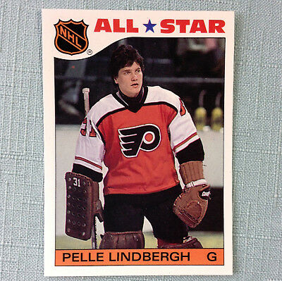 1985-86 Topps Pelle Lindbergh # 6 All Star Hockey Card Philadelphia Flyers Mint