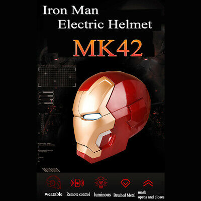 1:1 Replica Full Metal Iron Man MK42 With LED Eye Helmet Remote Control Fine