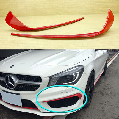 FIT Mercedes Benz CLA-Class W117 AMG Sport Front Bumper RED Cover Splitter 2016