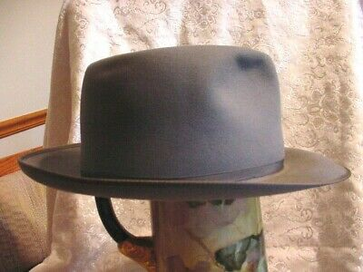 b9ab4c053957d4 ROYAL STETSON STRATOLINER WIDE BRIM GRAY HAT SIZE 1/4 1940's / 1950's