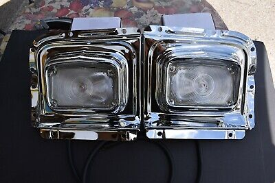 56 CHEVY CHROME Rear Tail Light Housing embly Pair 1956 ... on