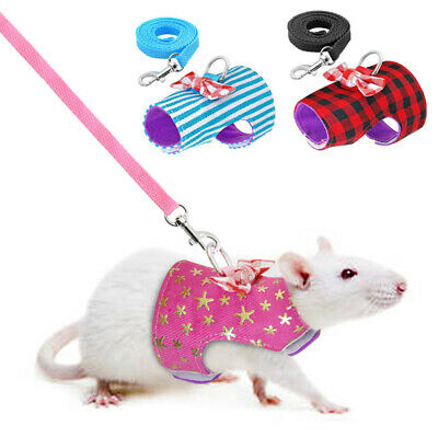Pet Leash Ferret Harness Hamster Squirrel Rat Small Animal Traction Chest Strap