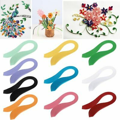NEW Creative Decro Craft Origami Tool Solid Color Handmade Quilling Paper