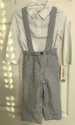 2d4a91f92 New Size 18-24 Months Crazy 8 Boys Suspenders Pants Set Outfit Easter Shirt  Top