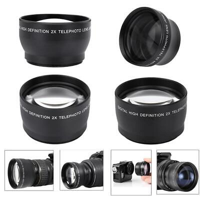 37mm/52mm/55mm/58mm 2X Magnification HD Camera Telephoto Tele Converter Lens NEW