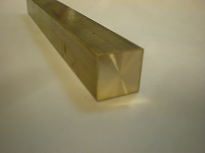 Brass Bar CZ121 For Engineering / Modelling / Steam 14mm Square x 150mm Long.