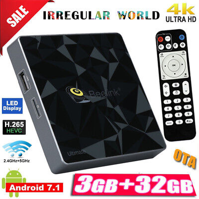 Beelink GT1 Ultimate Android 7.1 S-912 3GB+32GB Dual WIFI BT Smart TV Box + LEDs