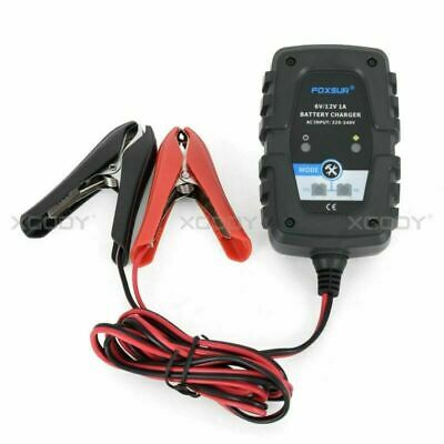 6V 12V Maintainer Battery Charger For Car Motorcycle 1A Portable Plug in