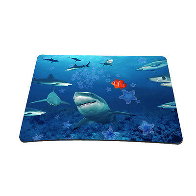 Cool Shark Anti-Slip Rubber Gaming Mousepad Mice Mat For Optical Laser Mouse