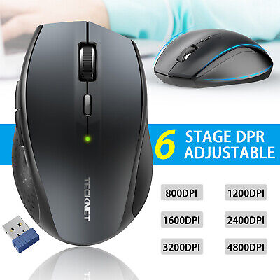 TeckNet Wireless Mouse 4800 DPI 2.4G Optical Cordless Mice Scroll for PC Laptop