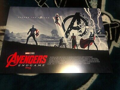 "Avengers Endgame Week 1 AMC IMAX exclusive mini poster - 11"" x 15.5"" Bundle Rare"