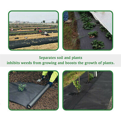 New 8/20/30/50m X 1.5m Weed Control Fabric Membrane Landscaping Ground Cover Mat