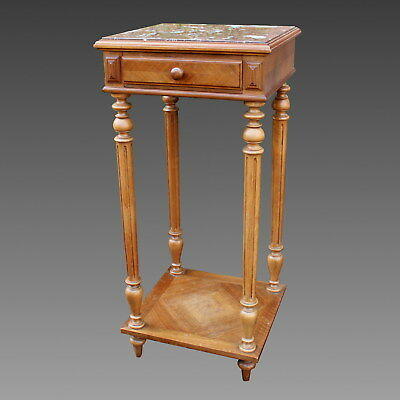 Antique small Table Bedside Selette in Walnut - 19th century