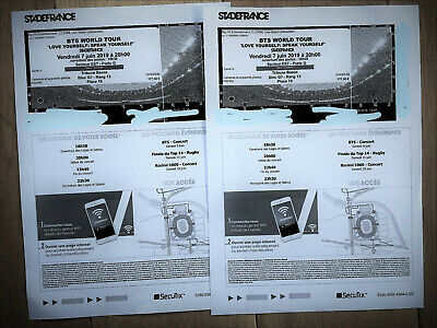 BTS Paris 2 Tickets Golden Category VIP EXPERIENCE OFFER June 7th 2019