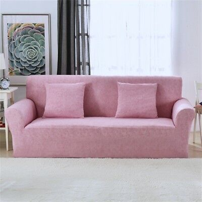 Seater Sofa Slipcover Stretch Protector Soft Couch Cover Washable Easy blue pink