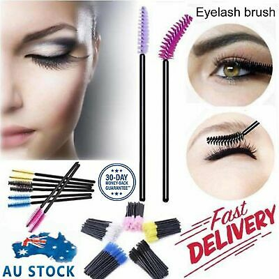Disposable Mascara Wands Eyelash Brushes Applicator Lash Wand Brush Extension AU