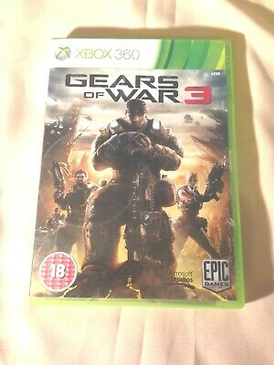 Gears of War 3, Xbox 360 Game - xbox 360 – pal – UK – free post + manual
