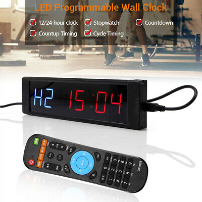 Programmable LED Interval Timer Stopwatch Training Digital Fitness Yoga Crossfit
