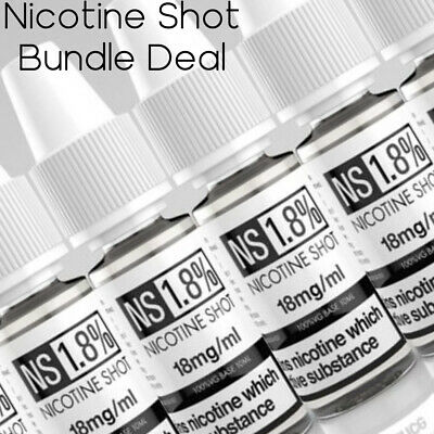 Nicotine Shot Boosters | DIY | BULK BUY | SHORT FILL NIC | 18MG 10ML VAPE SHOT