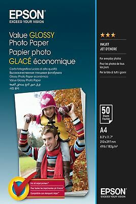 Epson Value Glossy Photo Paper - A4 - 50 sheets C13S400036