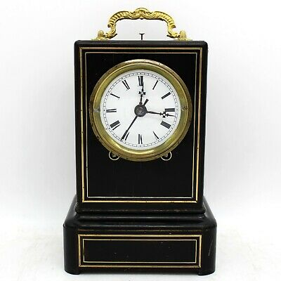 Antique Napoleon III carriage travel Officier Clock - 19th century