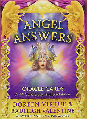 ANGEL ANSWERS Oracle Cards Doreen Virtue Oracle Cards Series 44cards w/Track