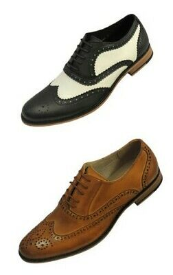 Men's 1920's 30's 40's Leather Black White Swing Jazz Gatsby Brogues Shoes