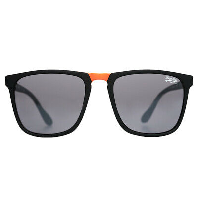 Superdry NEW SDR Maverick Sunglasses - Rubberised Matte Black / Orange BNWT