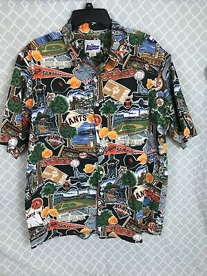 e69cd3f3 Reyn Spooner Exclusive Mens San Francisco SF Giants MLB Hawaiian Size XL  Shirt
