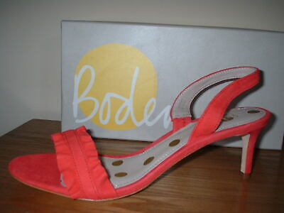 RED LEATHER SUEDE PEEP TOE SLING BACK STILETTO HEEL SANDAL SIZE 8//42 TOP QUALITY
