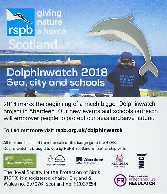 RSPB Pin Badge | Dolphinwatch 2018 GNAH (01379)