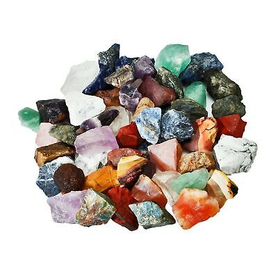 SUNYIK Natural Raw Stones Rough Rock Crystals for Tumbling,Cabbing,Assorted S...